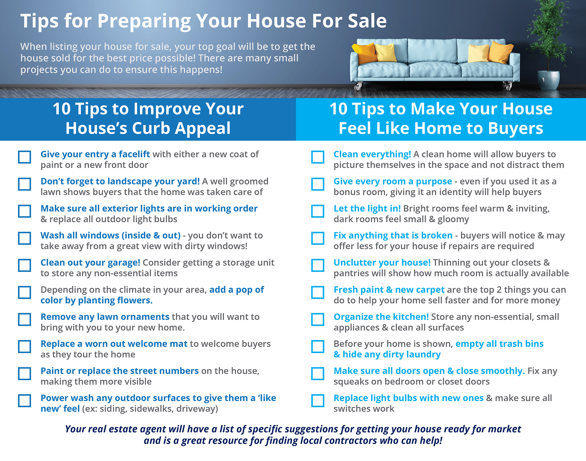 20 Tips For Preparing Your House For Sale Revv Real